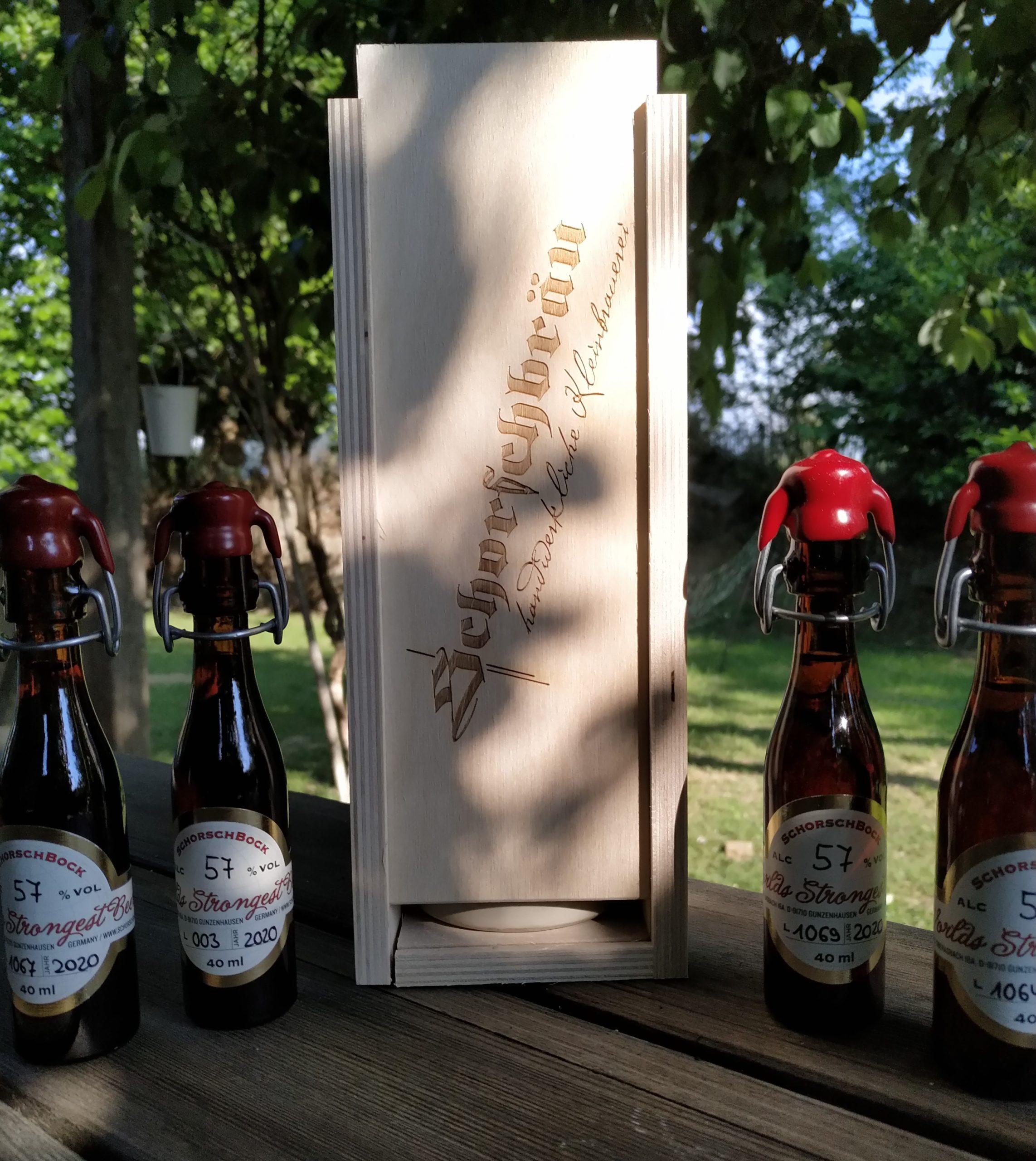 Schorschbock 57% world strongest beer